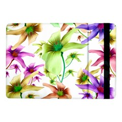 Multicolored Floral Print Pattern Samsung Galaxy Tab Pro 10 1  Flip Case