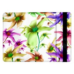 Multicolored Floral Print Pattern Samsung Galaxy Tab Pro 12 2  Flip Case