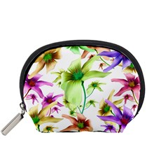 Multicolored Floral Print Pattern Accessory Pouch (Small)