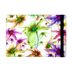 Multicolored Floral Print Pattern Apple Ipad Mini 2 Flip Case