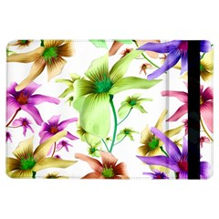 Multicolored Floral Print Pattern Apple iPad Air Flip Case