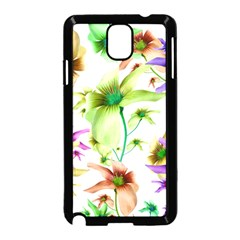 Multicolored Floral Print Pattern Samsung Galaxy Note 3 Neo Hardshell Case (Black)