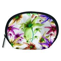 Multicolored Floral Print Pattern Accessory Pouch (Medium)