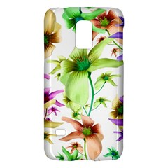 Multicolored Floral Print Pattern Samsung Galaxy S5 Mini Hardshell Case