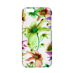 Multicolored Floral Print Pattern Apple iPhone 6 Hardshell Case
