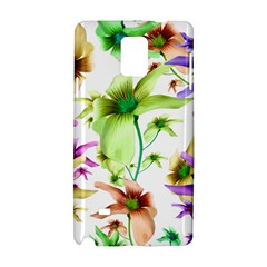 Multicolored Floral Print Pattern Samsung Galaxy Note 4 Hardshell Case