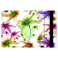 Multicolored Floral Print Pattern Apple iPad Air 2 Flip Case