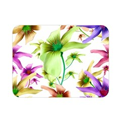 Multicolored Floral Print Pattern Double Sided Flano Blanket (Mini)