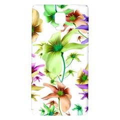 Multicolored Floral Print Pattern Samsung Note 4 Hardshell Back Case