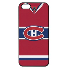 Montreal Canadiens Jersey Style  Apple iPhone 5 Seamless Case (Black)
