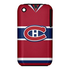 Montreal Canadiens Jersey Style  Apple iPhone 3G/3GS Hardshell Case (PC+Silicone)