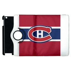 Montreal Canadiens Jersey Style  Apple iPad 3/4 Flip 360 Case