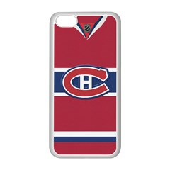 Montreal Canadiens Jersey Style  Apple iPhone 5C Seamless Case (White)