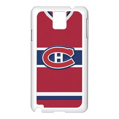 Montreal Canadiens Jersey Style  Samsung Galaxy Note 3 N9005 Case (White)