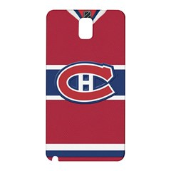 Montreal Canadiens Jersey Style  Samsung Galaxy Note 3 N9005 Hardshell Back Case