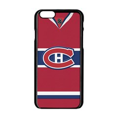 Montreal Canadiens Jersey Style  Apple iPhone 6 Black Enamel Case