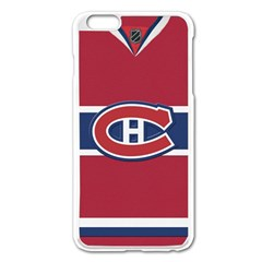 Montreal Canadiens Jersey Style  Apple iPhone 6 Plus Enamel White Case