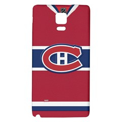 Montreal Canadiens Jersey Style  Samsung Note 4 Hardshell Back Case