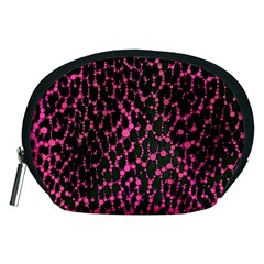 Hot Pink Leopard Print  Accessory Pouch (Medium)