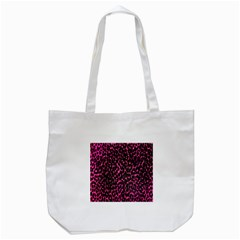 Hot Pink Leopard Print  Tote Bag (white)
