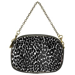 Black&white Leopard Print  Chain Purse (one Side)
