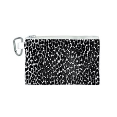 Black&white Leopard Print  Canvas Cosmetic Bag (Small)