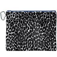 Black&white Leopard Print  Canvas Cosmetic Bag (xxxl)