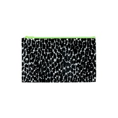 Black&white Leopard Print  Cosmetic Bag (XS)