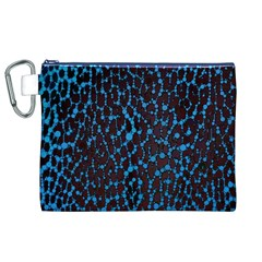 Florescent Leopard Print  Canvas Cosmetic Bag (XL)