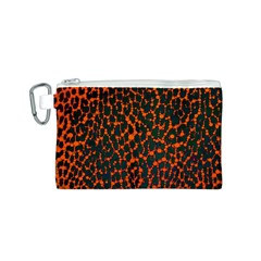 Florescent Leopard Print  Canvas Cosmetic Bag (small)