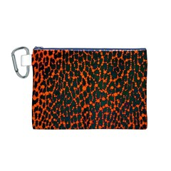 Florescent Leopard Print  Canvas Cosmetic Bag (medium)