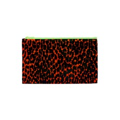 Florescent Leopard Print  Cosmetic Bag (xs)