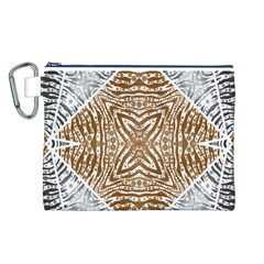 Animal Print Pattern  Canvas Cosmetic Bag (Large)