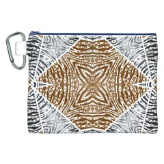 Animal Print Pattern  Canvas Cosmetic Bag (XXL)