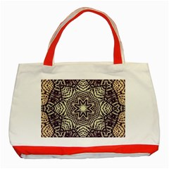 Crazy Beautiful Abstract  Classic Tote Bag (red)
