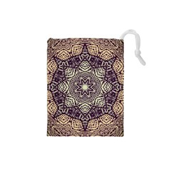 Crazy Beautiful Abstract  Drawstring Pouch (Small)