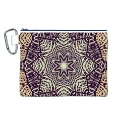 Crazy Beautiful Abstract  Canvas Cosmetic Bag (Large)