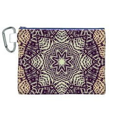 Crazy Beautiful Abstract  Canvas Cosmetic Bag (xl)