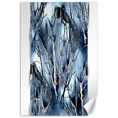 Abstract Of Frozen Bush Canvas 20  X 30  (unframed)