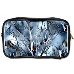 Abstract Of Frozen Bush Travel Toiletry Bag (two Sides)