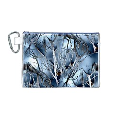 Abstract Of Frozen Bush Canvas Cosmetic Bag (Medium)
