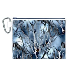 Abstract Of Frozen Bush Canvas Cosmetic Bag (Large)