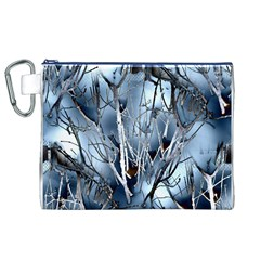 Abstract Of Frozen Bush Canvas Cosmetic Bag (XL)