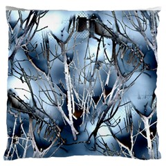 Abstract Of Frozen Bush Large Flano Cushion Case (One Side)