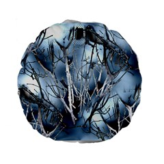 Abstract Of Frozen Bush 15  Premium Flano Round Cushion
