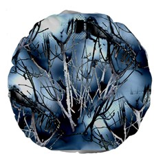 Abstract Of Frozen Bush 18  Premium Flano Round Cushion