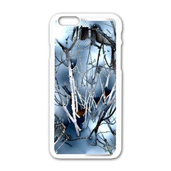 Abstract Of Frozen Bush Apple iPhone 6 White Enamel Case
