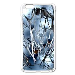 Abstract Of Frozen Bush Apple iPhone 6 Plus Enamel White Case