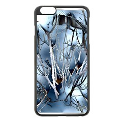Abstract Of Frozen Bush Apple iPhone 6 Plus Black Enamel Case