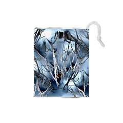 Abstract Of Frozen Bush Drawstring Pouch (small)